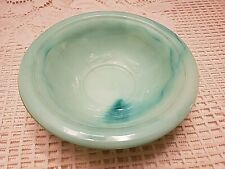 Collectible Avon Green Marble Small Bowl With Embossed Rose Design