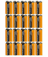 20 x DURACELL INDUSTRIAL 9v PP3 MN1604 BLOCK ALKALINE BATTERIES REPLACES PROCELL