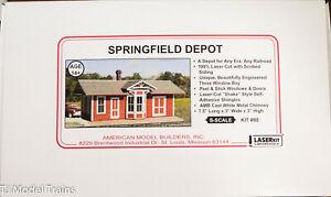 American Model Builders, Inc S #80 Springfield Depot (Laser Cut Building Kit)