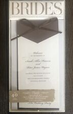 Brides Gartner STudios 40 Court Wedding Programs  Brown & Ivory