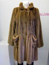 Swinger Pelzjacke ungefüttert geschorener Nerz D 40 UK 16 mink jacket
