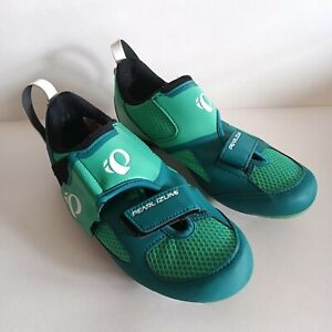 Pearl Izumi Tri Fly V Carbon Triathlon Cycling Shoes Green Women's Size EUR 39
