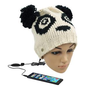 KitSound Audio Mütze Beanie mit Integrierten Kopfhörer Panda Nr.8 Strickmütze
