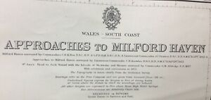 ADMIRALTY SEA CHART. No.2878. APPROACHES to MILFORD HAVEN. WALES S. COAST. 1925.