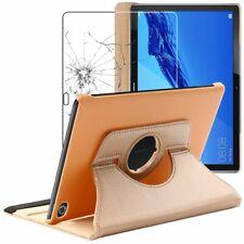 Coque + VERRE Trempé Huawei MediaPad M5 Lite 10.1 Housse Etui Rotatif PU Cuir