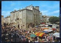 France Aubenas Jour de Marche sur la Place du Chateau - posted