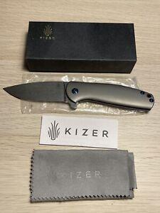 """Kizer Cutlery Gemini Flipper Knife 3-1/8"""" S35VN by Ray Laconico"""