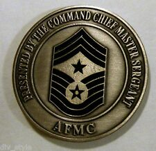 Air Force Materiel Command Challenge Coin presented by the Cmd Chief Master Sgt.