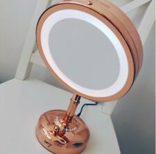 No7 ILLUMINATED MAKE UP MIRROR ROSE GOLD BRAND NEW SEALED BOX FREE P&P