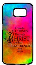 Christian Bible Verse Quote Case Rubber/Hard Cover Samsung Galaxy or Note Models