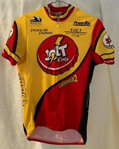 Jolt Cola VOLER Men's MEDIUM Bicycle Bike Jersey Made in USA Napa Valley