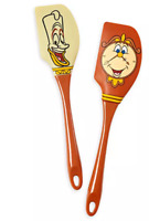 Disney Parks Beauty Beast Cogsworth Lumiere Silicone Baking Spatula Set of 2 NEW