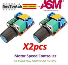 2pcs 5A PWM Max 90W DC Motor Speed Controller 3V-35V Switch LED Dimmer