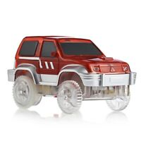 LED Light Vehicle Racing Track Car Toy Not Include Battery for Kids E7A5