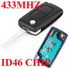 For CITROEN C2 C3 C4 PICASSO 2 Button Remote Alarm Flip Key Fob 433MHz ID46 K15