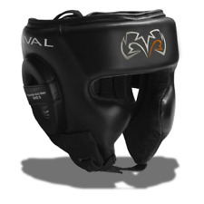 Rival RHG2 Training Headguard Black Leather Boxing Kickboxing Striking Headgear