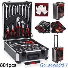 801 pcs Tool Set Case Mechanics Kit Box Organize Castors Toolbox Trolley NEW UK