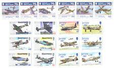 Battle of Britain-World War II Jersey-Guernsey-I.O.Man sets mnh-Aviation