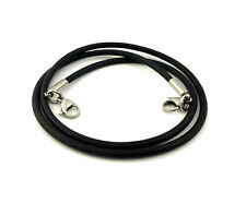 CLEARANCE! Medical ID Triple Strand Black Silicone Replacement Bracelet 2 Sizes!