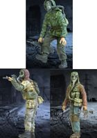 1/35 Resin Zombie War Stalker 3 Figures Unpainted Unassembled BL394