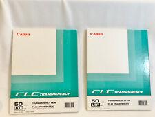 2 BOXES CANON CLC TRANSPARENCY FILM FOR COLOR LASER COPIER - 25 / 64 SHEETS