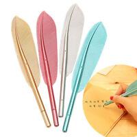 1 pc Random Color Pretty Feather Letter Paper Office Gel Pen 0.5 mm Black Pen