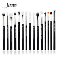 Jessup 15Pcs Eye Shadow Blending Makeup Brushes Set Eyeliner Lip Stippling Brush
