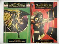 GREEN ARROW LONGBOW HUNTERS #1 & 2 (1987, DC ) NM Graphic Novel Comic 1ST PRINT