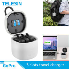 TELESIN ALLINBOX For GoPro Hero 8 7 6 5 3 Slots Travel Battery Charger Storage
