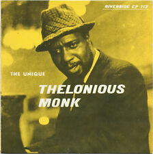 "THE UNIQUE THELONIOUS MONK Riverside EP Jazz BOP Hard Bop 7"" hear!"