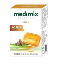 Medimix Ayurvedic Sandal Soap, 125g (4+1 Offer Pack) Skin Care Free Shipping