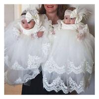 Formal Long Vintage Christening Dress Baby Baptism Gown First Communion Dresses