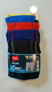 NEW  4 PAIRS  HANES ULTIMATE BOYS Boxers BRIEF  Size XL