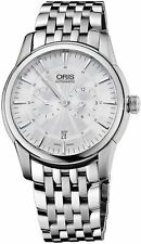 Oris Artelier Automatic Regulator Watch - Mens 40mm Analog Silver Face with S...