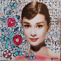 MARIA MURGIA  - AUDREY HEPBURN  -  2021 Pezzo unico dipinto  cm 50x50 + ARCHIVIO