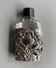 More details for antique edwardian solid silver miniature perfume bottle henry matthews 1902