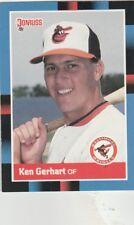 FREE SHIPPING-MINT-1988 Donruss Baltimore Orioles Baseball Card #213 Ken Gerhart