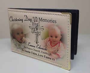 Personalised photo album, memroy book, Christening or baptism memories, Auntie