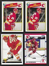Joe Nieuwendyk Lot w/ 2 OPC RCs / 1991 ERR / 93-94 Topps Gold Calgary Flames HOF