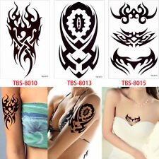 3x Einmal Tattoo Fake Tattoo Tribal Motiv  Temporary Tattoo Sparpaket (Set1)