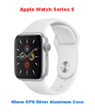 Apple Watch Series 5 40mm Silver / White Aluminum GPS Only MWV62LL/A New