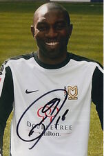 MK DONS HAND SIGNED JABO IBEHRE 6X4 PHOTO 1.