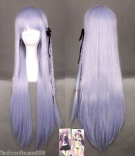 80cm Dangan Ronpa Kyouko Kirigiri Cosplay Wig with Braid Light Purple