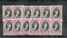 Malaya 1953 Coronation*F-Vf Nh 12 Different Values $92