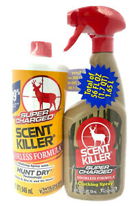 Scent Killer Odorless Formula Clothing Spray with Refill 56 fl oz Total
