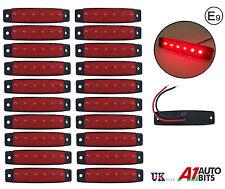 20x 24v LED Lateral Trasero Delantero Marcador Rojo Luces Remolque Furgoneta