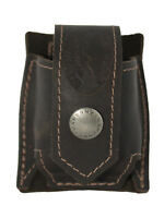 New Barsony Brown Leather Belt Clip Revolver Speed Loader Pouch .22 .38 .357