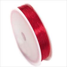 Hilo Cordón Elástico De Nailon 0,8mm – 18m Rojo para Joyería