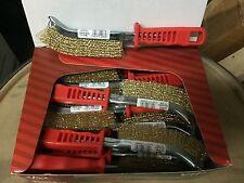 """24 Jaz 85100 Hand Scratch Brush, Brass Coated Steel .014"""",  10"""" OAL 24/Case"""