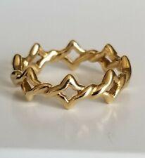 David Yurman 18K Yellow Gold Venetian Quatrefoil Ring  Size 7 Mint